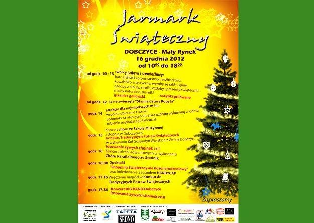 16 grudnia na Małym Rynku w Dobczycach koło Krakowa odbędzie się specjalny, świąteczny jarmark /materiały prasowe