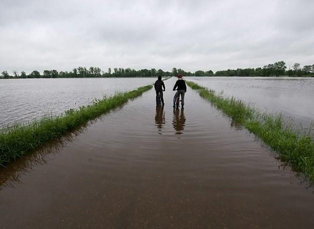 17 maja 2010 r.: Zalana miejscowość Suchy Grunt w województwie małopolskim