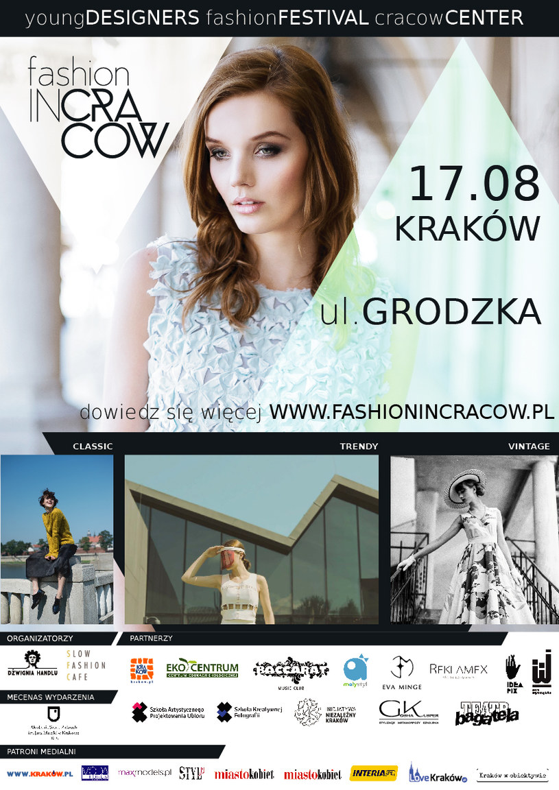 17 sierpnia zapraszamy na Fashion in Cracow /materiały prasowe