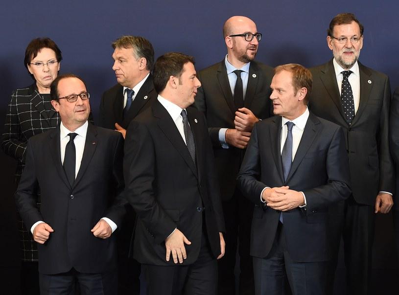18.12.2014, pierwszy unijny szczyt z udziałem Donalda Tuska w roli przewodniczącego RE /EMMANUEL DUNAND /AFP