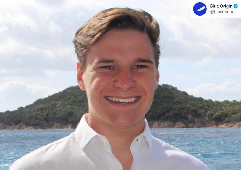 18-letni Holender Oliver Daemen czwartym na pokładzie Blue Origin /Twitter
