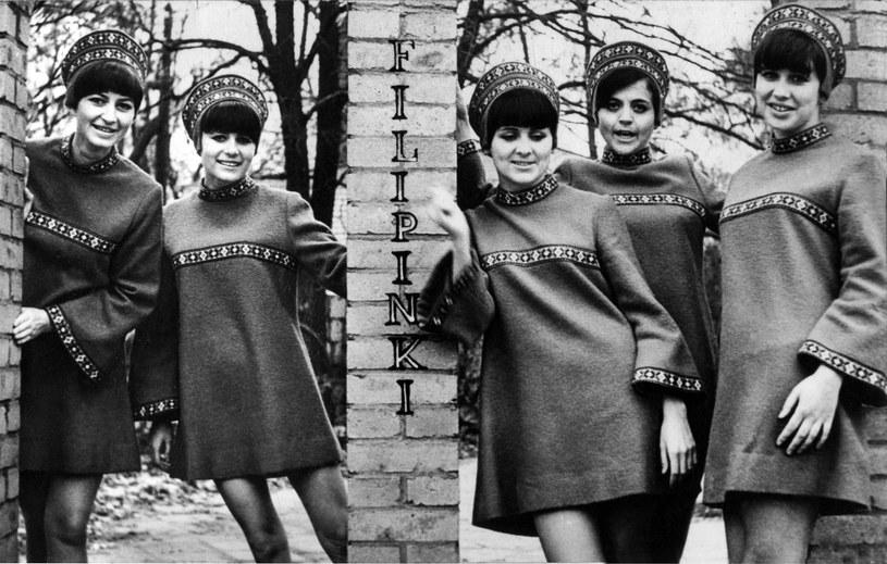 1965 rok, zespół wokalny Filipinki, chałupnicza pocztówka. Reprodukcja: FoKa / FORUM /FoKa /Agencja FORUM