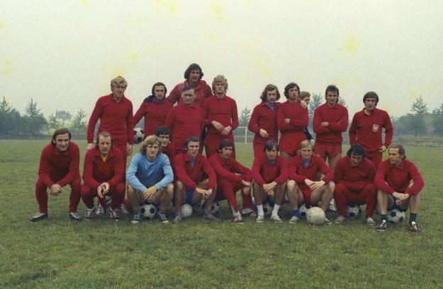 1973.  Reprezentacja Polski na X Mistrzostwa Świata w piłce nożnej 1974 w NRF i Berlinie Zachodnim /CAF/archiwum