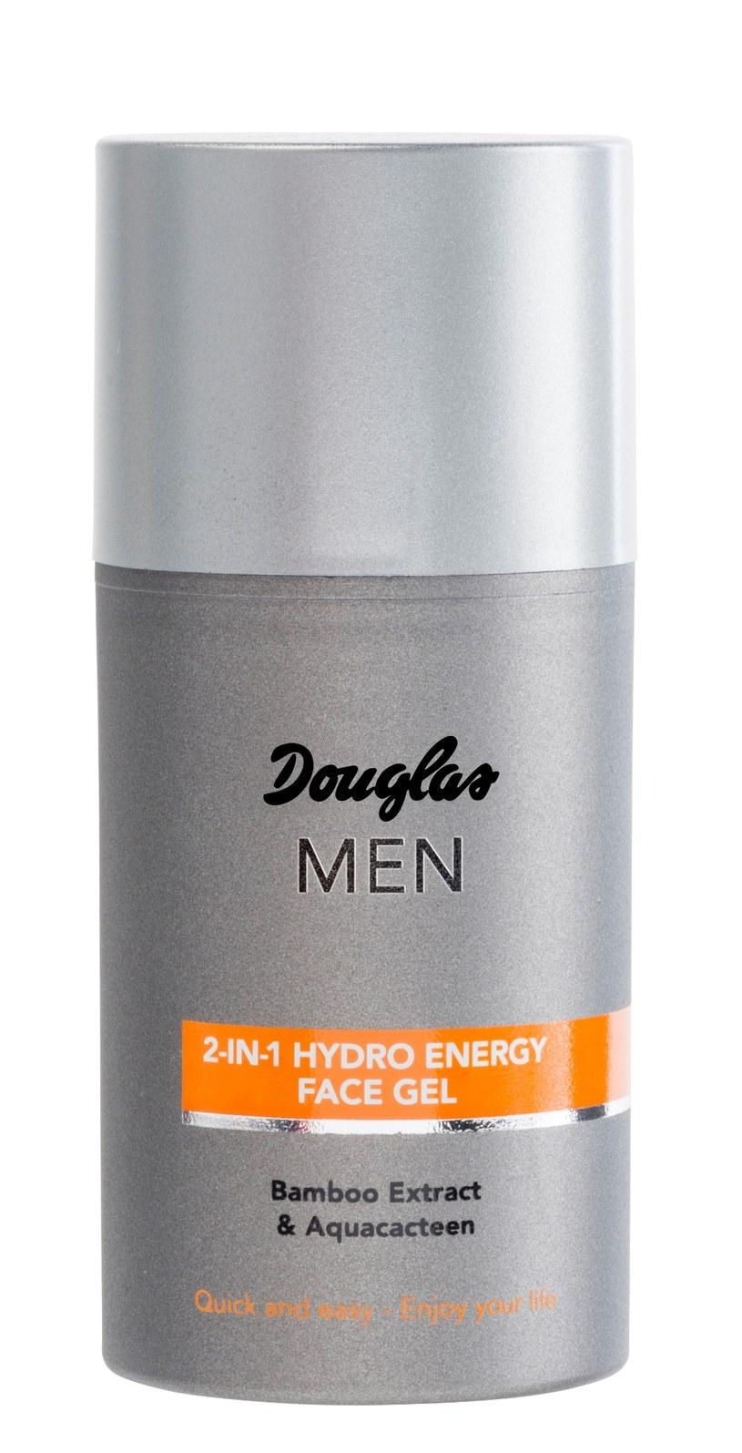 2 in 1 Hydro Energy Face Gel od Douglas MEN /Styl.pl/materiały prasowe