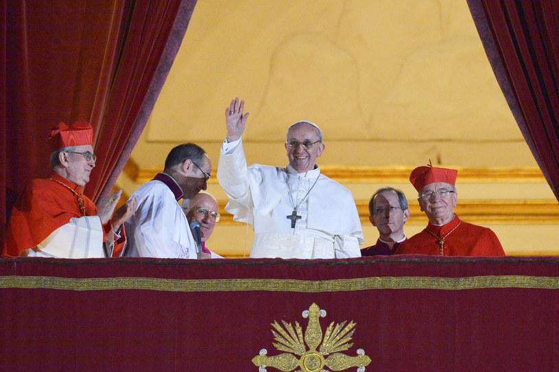 20.03.2013 - kardynał Jorge Mario Bergoglio wybrany na nowego papieża /AFP