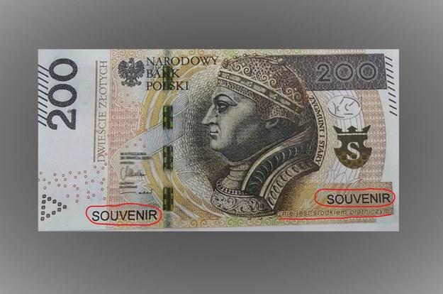 200-złotówka do gier, którą 15-latek zdołał zapłacić w sklepie w Mławie /KPP w Mławie /Policja