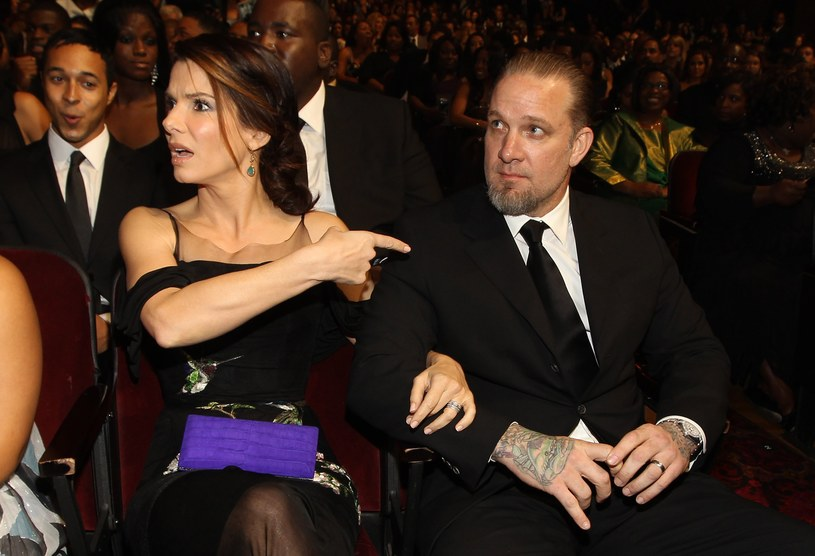 2010 rok: Sandra Bullock i ówczesny mąż aktorki - Jessie James /Christopher Polk /Getty Images