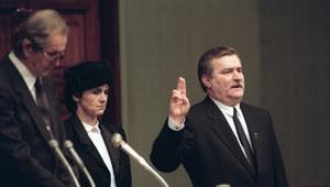 22 grudnia 1990 r. Przysięga prezydencka Lecha Wałęsy