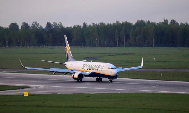23 maja samolot relacji Ateny-Wilno linii Ryanair został zmuszony do lądowania w Mińsku /STRINGER /PAP/EPA