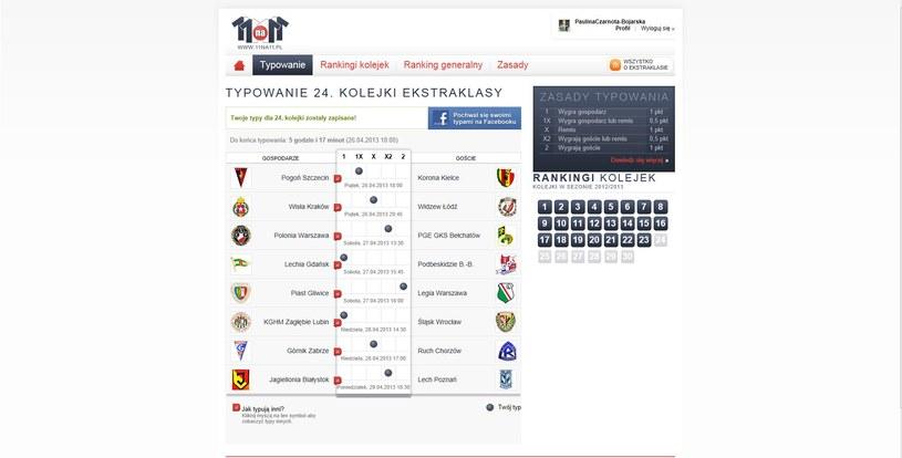24. kolejka T-Mobile Ekstraklasy - tak typuje Paulina Czarnota-Bojarska z Canal+ /INTERIA.PL