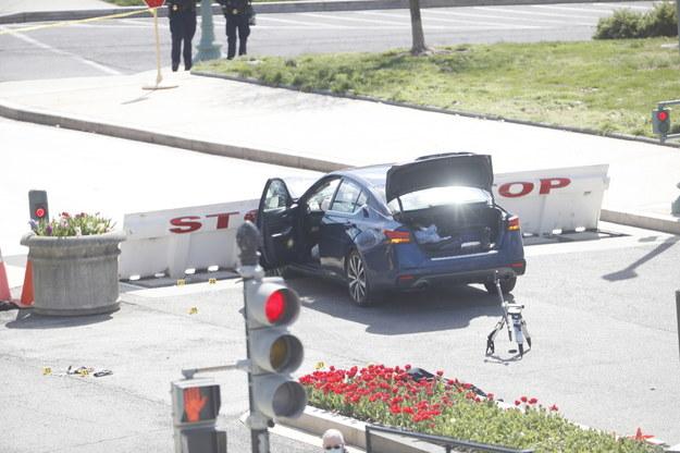 25-letni Noah Green staranował samochodem barykady w pobliżu Kongresu USA /SHAWN THEW    /PAP/EPA