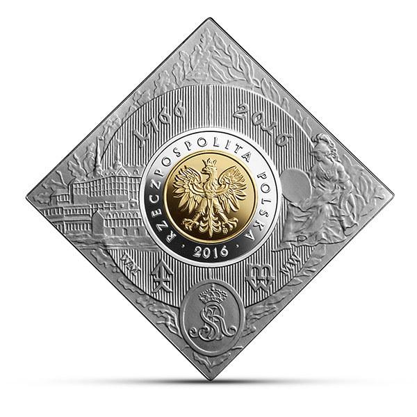 250. rocznica założenia Mennicy Warszawskiej, 5 zł, awers /NBP