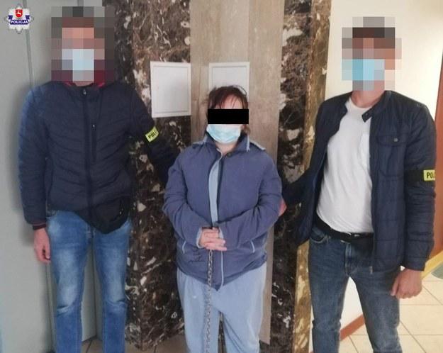 26-latka podejrzana o uduszenie 3 swoich dzieci w wieku 4 lat, 2 lat oraz 9 miesięcy usłyszała zarzuty zabójstwa w  Prokuraturze Okręgowej w Lublinie /Policja Lubelska /