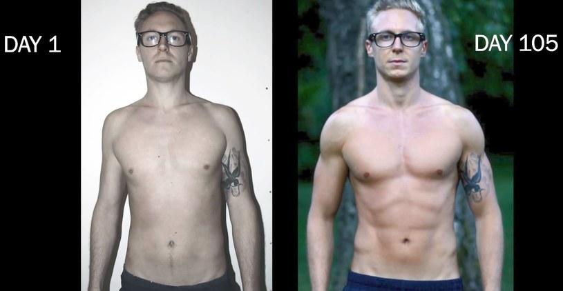 26-letni Stefan prezentuje to, co osiągnął dzięki freeletics /YouTube