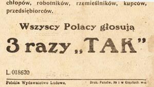 """27 kwietnia 1946 r. """"O głosowaniu ludowym"""""""