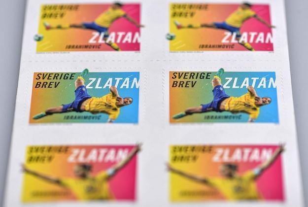 27 marca szwedzka poczta wypuściła serię znaczków z kapitanem piłkarskiej reprezentacji Szwecji /AFP