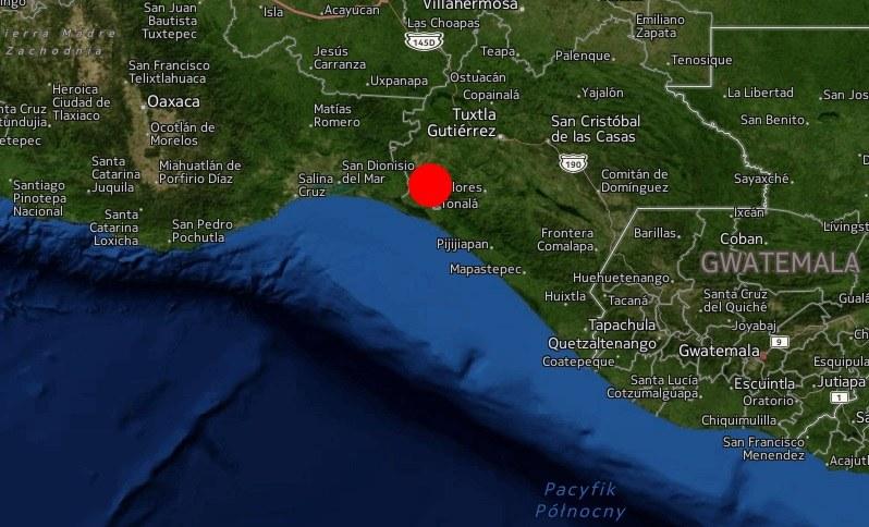 35 kilometrów na zachód od miasta Tonala /Mapy.interia.pl /INTERIA.PL