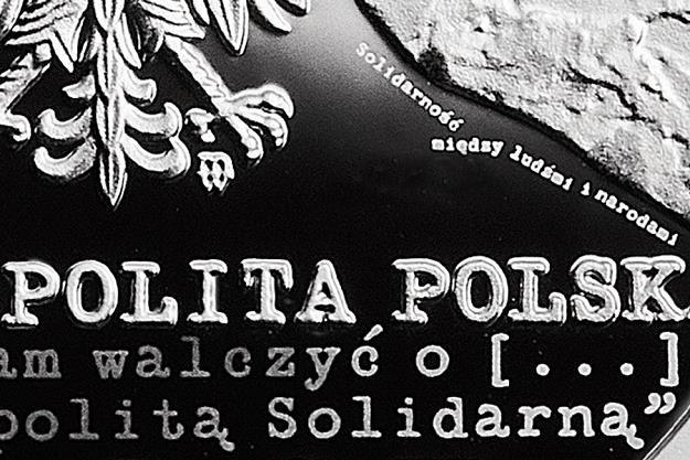 35-lecie Solidarności Walczącej, detal awersu /NBP