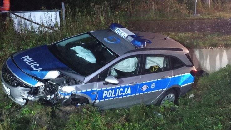 38-latek staranował radiowóz /Policja Małopolska /