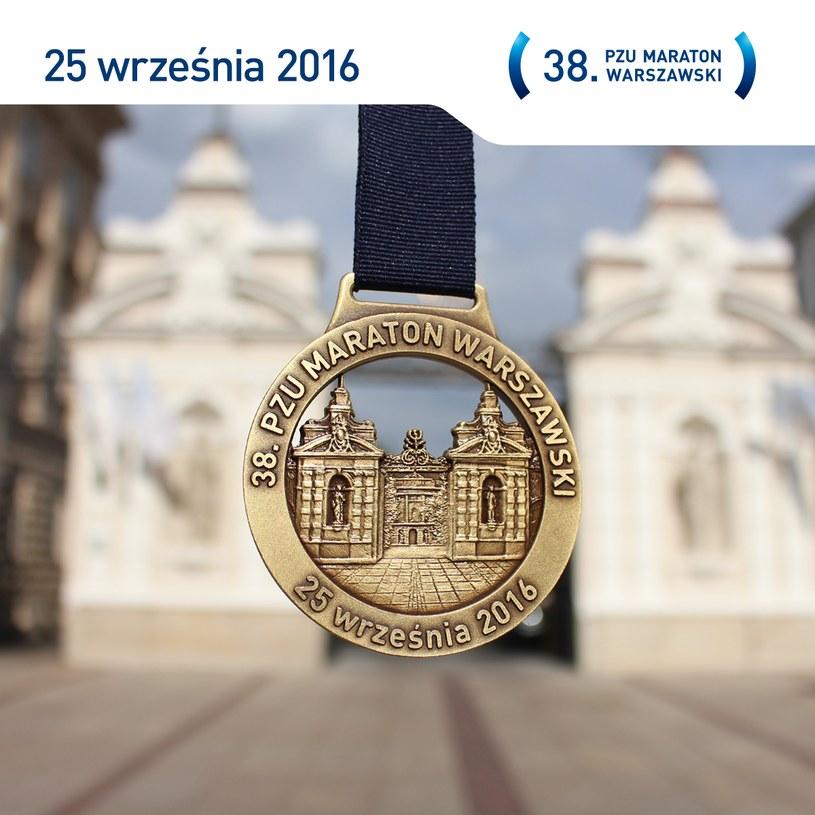 38. PZU Maraton Warszawski startuje w ten weekend w stolicy /Medal PZU Maratonu Warszawskiego /