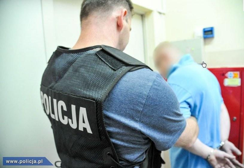 39-latek został zatrzymany w swoim mieszkaniu /Policja