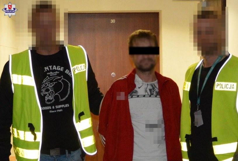 39-letni mieszkaniec Tomaszowa Lubelskiego był poszukiwany 16 listami gończymi /Policja Lubelska /materiały prasowe