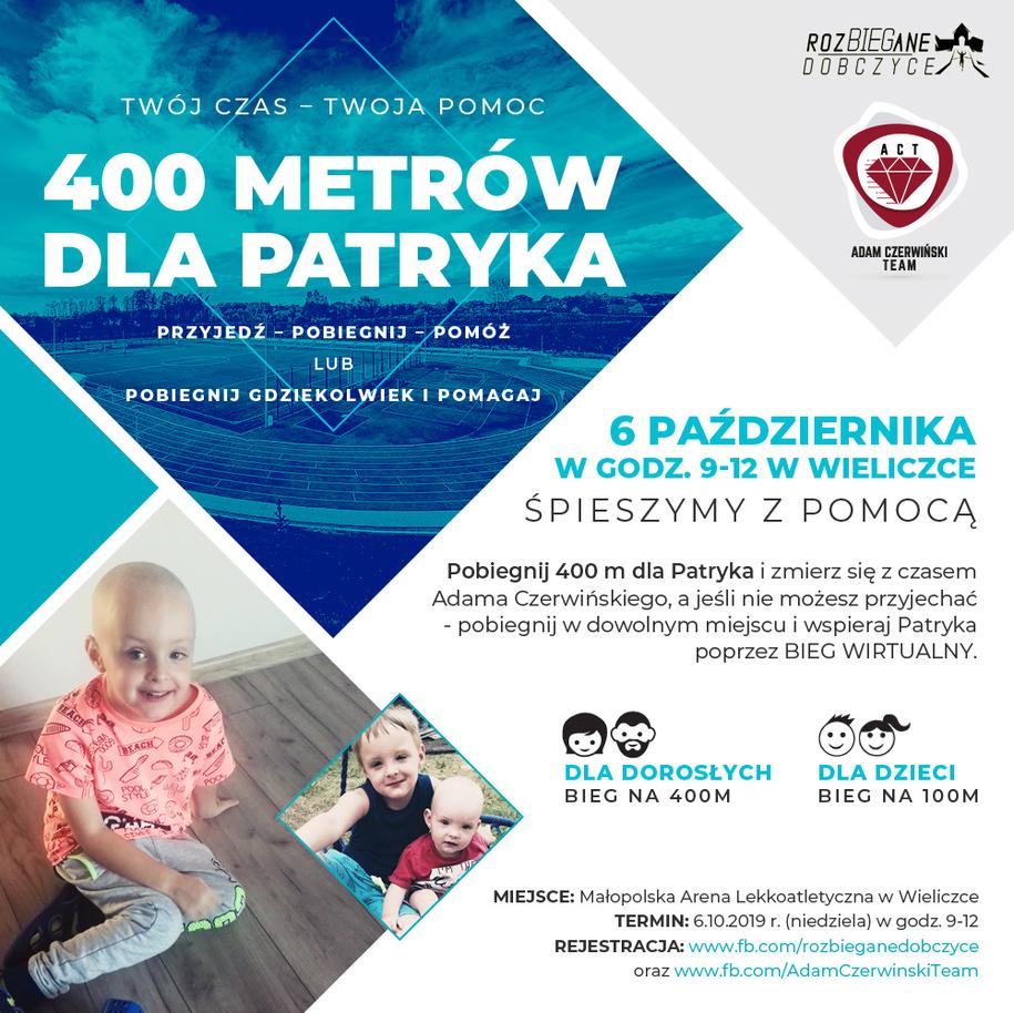 400 metrów dla Patryka /informacja prasowa /Materiały prasowe