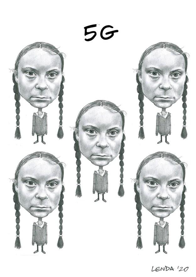 5 G - (Greta Thunberg x 5) /Łukasz Lenda /RMF24