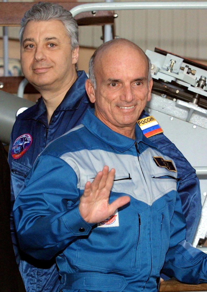 5 kwietnia 2001 - trening Tito trwał długo, dla porównania, astronauci Blue Origin, firmy Bezosa, szkolili się kilka godzin /AFP