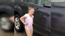 5-letnia baletnica nie mogła doczekać się lekcji tańca