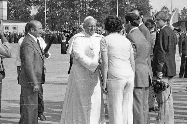 Wizyta papieża Jana Pawła II - rok 1979. Fot. Piotr Kaczmarczyk (zbiory Piotra Fydy)