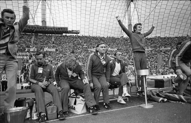 6.07.1974. Mecz na Stadionie Olimpijskim o 3. miejsce na Mistrzostwach Świata, Polska – Brazylia 1:0 (0:0) /CAF/archiwum /PAP
