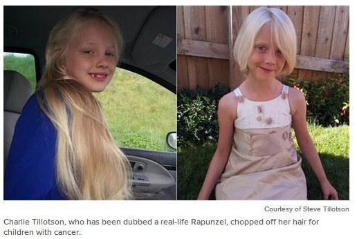6 latka przekazała włosy dzieciom chorym na raka /TODAY/ Rex Features /