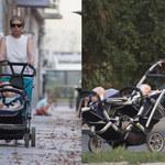 60-letnia matka Barbara Sienkiewicz na spacerze z bliźniakami. Dostała zapomogę!