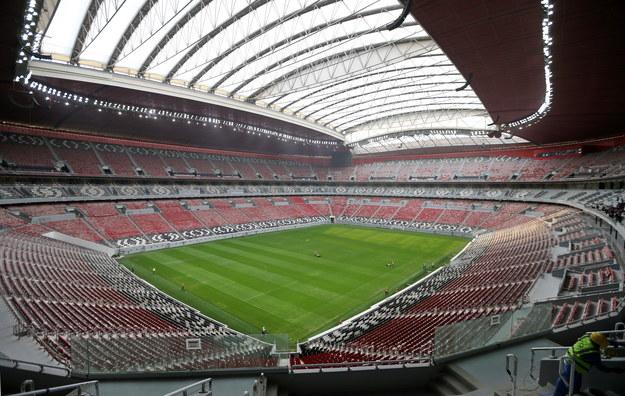 60-tysięczny stadion Al. Bayt w Al Chaur, na którym rozegrany zostanie mecz otwarcia MŚ 2022 /ALI HAIDER /PAP/EPA
