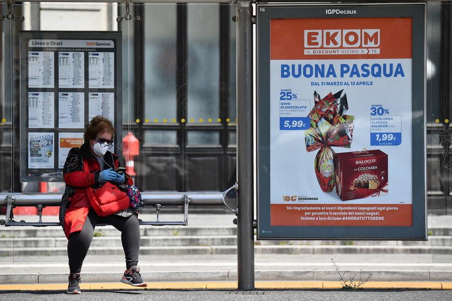 604 osoby zakażone koronawirusem zmarły w ciągu minionej doby we Włoszech /LUCA ZENNARO /PAP/EPA