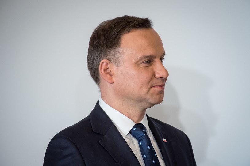 62 proc. badanych dobrze ocenia działalność prezydenta Andrzeja Dudy; 29 proc. ocenia ją źle /Jacek Dominski/REPORTER /East News