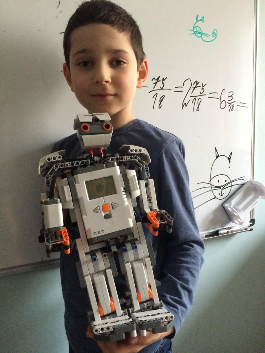 7-letni Kamil z Lublina i jego robot /Krzysztof Kot /RMF FM