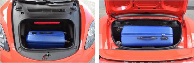 718 ma dwa bagażniki. Przedni (na zdjęciu z lewej) o pojemności 150 l i tylny – 125-litrowy. Przed nim została umieszczona jednostka napędowa. /Motor