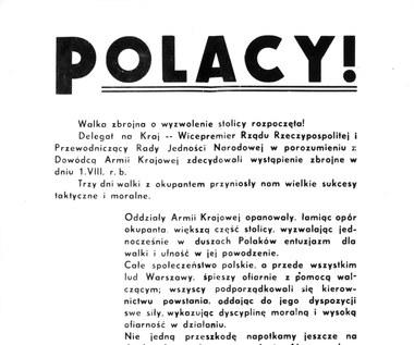 75 lat temu wydano decyzję o rozpoczęciu powstania warszawskiego
