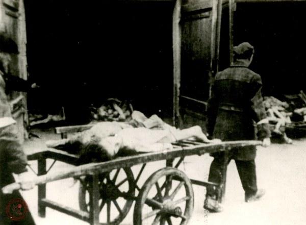 Wywożenie zwłok pomordowanych i zmarłych w getcie warszawskim