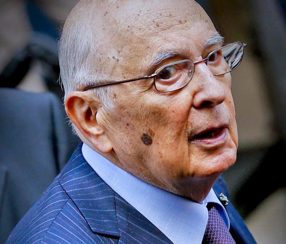 89-letni prezydent Włoch /CIRO FUSCO /PAP/EPA