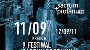 9. Festiwal Sacrum Profanum od niedzieli w Krakowie