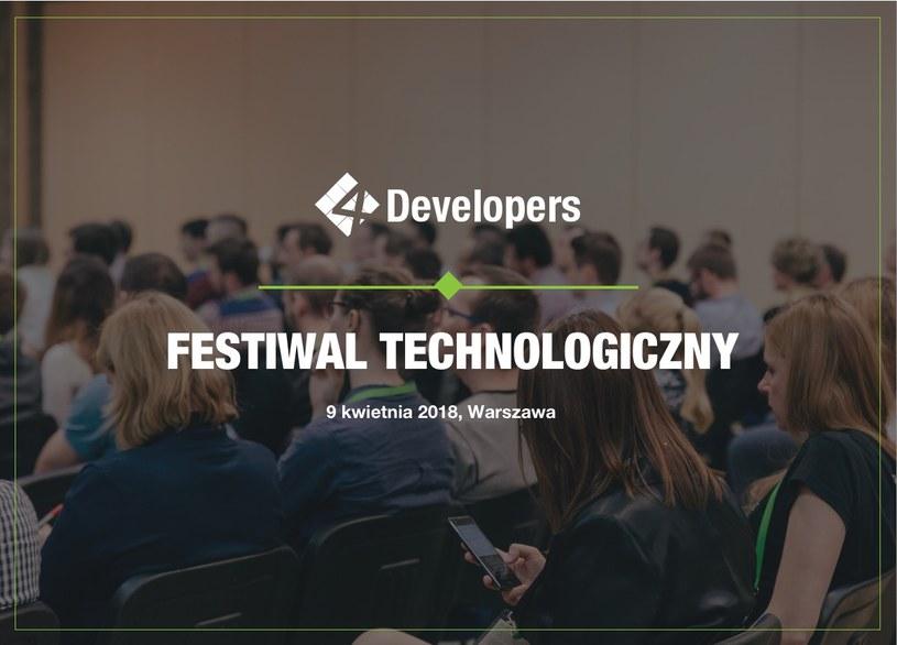 9 kwietnia 2018 w Warszawie odbędzie się kolejna edycja 4Developers /materiały prasowe
