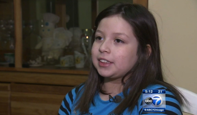 9-letnia Alyssa Meza. /Źródło: ABC 7. /