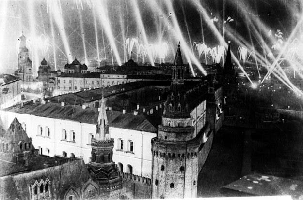 9 maja 1945 r., Plac Czerwony. Moskwa świętuje dzień zwycięstwa /East News