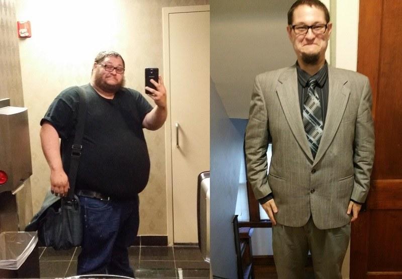 91 kilogramów mniej w rok! /MrZigglesworth /imgur.com