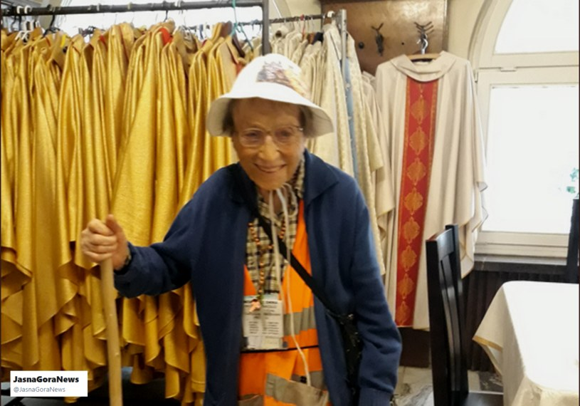 95-letnia Emma Morosini na Jasnej Górze /Twitter