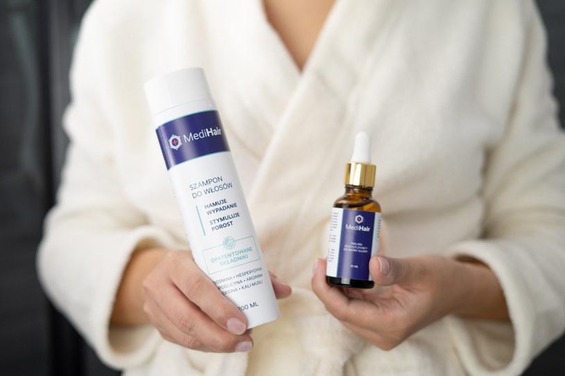 95 proc. osób testujących szampon Medi Hair dostrzegło zmniejszone wypadanie włosów /INTERIA.PL