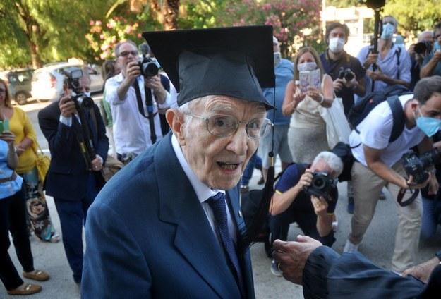 96-letni student Giuseppe Paterno /Alessandro FUCARINI /PAP/EPA
